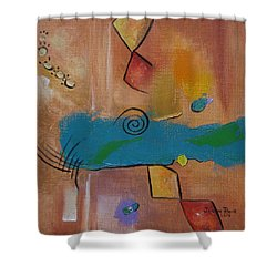Shower Curtain featuring the painting Wild Wild West by Judith Rhue