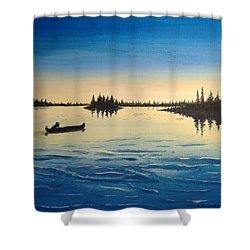 Wilderness Camp Shower Curtain