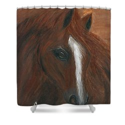 Shower Curtain featuring the painting Wildfire by Barbie Batson