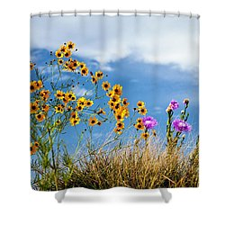 Wildflower Weed Shower Curtain by Tamyra Ayles