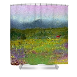Wildflowers Shower Curtain by David Patterson
