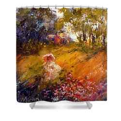 Wildflowers Shower Curtain by Marie Green