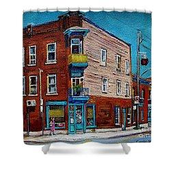 Wilensky's Light Lunch Plateau Montreal Shower Curtain by Carole Spandau