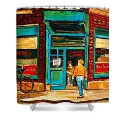 Wilensky's Restaurant Shower Curtain by Carole Spandau