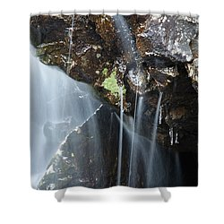 Willey Brook - White Mountains New Hampshire  Shower Curtain by Erin Paul Donovan