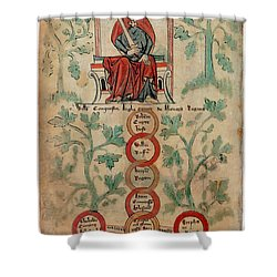 William The Conqueror Family Tree Shower Curtain by Photo Researchers