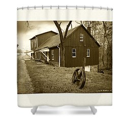 Williston Mill - Sepia Shower Curtain by Brian Wallace