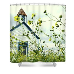 Willkommen Hier Shower Curtain by Joe Jake Pratt