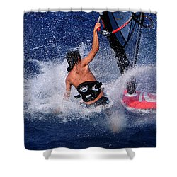 Wind Surfing Shower Curtain by Manolis Tsantakis