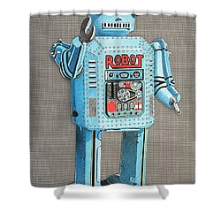 Wind-up Robot 2 Shower Curtain