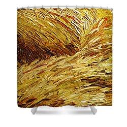 Windblown Grass Shower Curtain by Raette Meredith