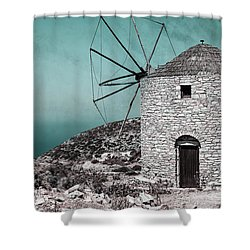 Windmill Shower Curtain by Joana Kruse