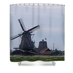 Shower Curtain featuring the photograph Windmill by Manuela Constantin