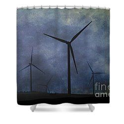 Windmills. Shower Curtain
