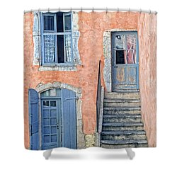 Shower Curtain featuring the photograph Window And Doors Provence France by Dave Mills