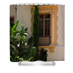 Shower Curtain featuring the photograph Window At The Biltmore by Ed Gleichman