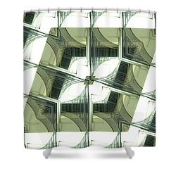 Window Mathematical 2 Shower Curtain