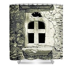 Window Of Stone Shower Curtain by Joana Kruse