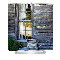 Window On Prairie Life Shower Curtain