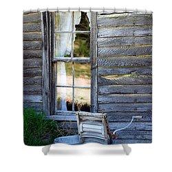 Window On Prairie Life Shower Curtain by Judy Hall-Folde