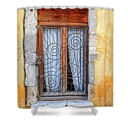 Shower Curtain featuring the photograph Window Provence France by Dave Mills