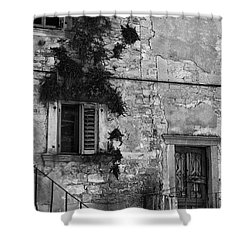 Shower Curtain featuring the photograph Crumbling In Croatia by Andy Prendy