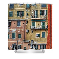 Windows Of Camogli Shower Curtain by Joana Kruse