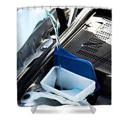 Windshield Cleaning Fluid Shower Curtain by Photo Researchers