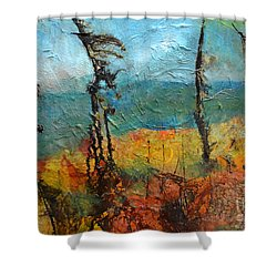 Windswept Pines Shower Curtain