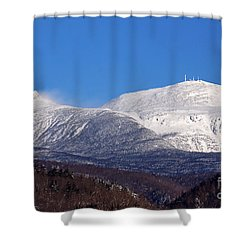 Windy Day At Mt Washington Shower Curtain