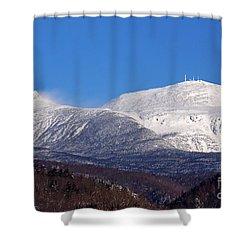 Windy Day At Mt Washington Shower Curtain