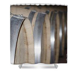 Wine Barrels Shower Curtain by Mats Silvan