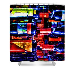 Wine Bottles Shower Curtain by Joan  Minchak