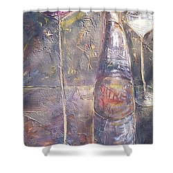 Wine Characters Shower Curtain