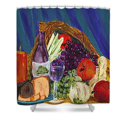 Wine Cornucopia Shower Curtain