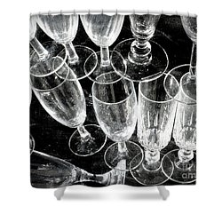 Wine Glasses Shower Curtain by Lainie Wrightson