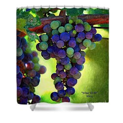 Wine To Be - Art Shower Curtain by Patrick Witz