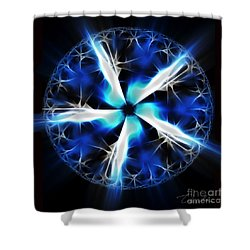 Wings Of Abyss Shower Curtain by Danuta Bennett