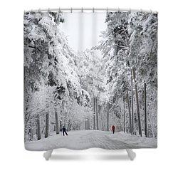 Winter Activities Shower Curtain