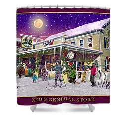 Winter At Zebs General Store In North Conway Nh Shower Curtain