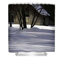 Winter Barn Shower Curtain by Rob Travis