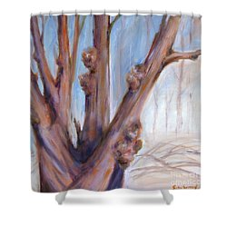 Winter Bones Shower Curtain by Sally Simon