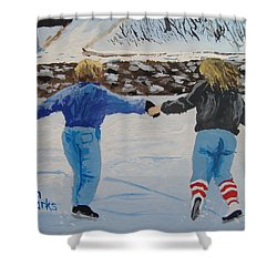 Winter Fun Shower Curtain by Norm Starks