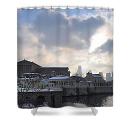 Winter In Philly Shower Curtain by Bill Cannon