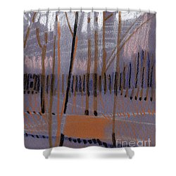 Shower Curtain featuring the painting Winter Landscape Abstract by Donald Maier