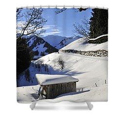 Winter Landscape Shower Curtain by Matthias Hauser