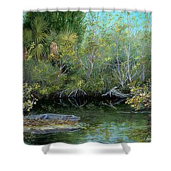 Winter Leaves Shower Curtain by AnnaJo Vahle