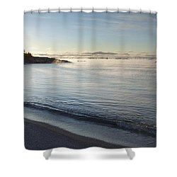 Winter Mist On Lake Superior At Sunrise Shower Curtain