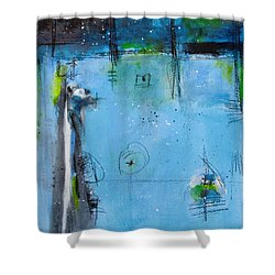 Shower Curtain featuring the painting Winter by Nicole Nadeau