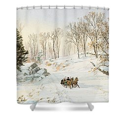 Winter On Ravensdale Road Shower Curtain by Jasper Francis Cropsey